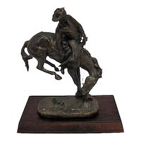 """The """"Outlaw"""" Remington Bronze Statue - The Franklin Mint"""