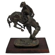 "The ""Outlaw"" Remington Bronze Statue - The Franklin Mint"