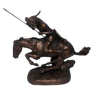 "The Cheyenne - Repro. Statue by Frederic Remington - 8 1/4"" Tall"