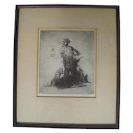 Untitled - Etching on Paper - by H. Devitt Welsh