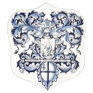 Vintage Tile Plaque - Richard A. Klein - Worshipful Society of Apothecaries of London