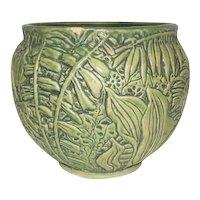 "Weller - Green Leafed/Sweet Pea Planter Pot - 10"" Tall"