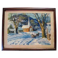Winter in New England Print - Signed