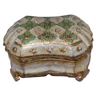 Wooden Hand Painted Keepsake Box - Made in Italy