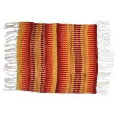 "Wool Saddle Blanket with Fringe - 46"" Long x 31"" Wide"
