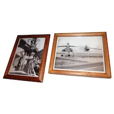 Copies of (3) B&W Photos Given From Chalmer Bowen Collection - Howard Hughes Test Pilot