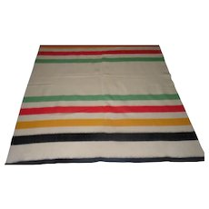 "Lot #10 Mint Condition - Old Wool Blanket - 79"" x 70 1/2"""