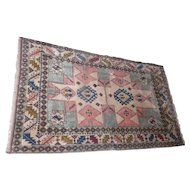 "Lot 2A - Old! Wool South American One-Sided Rug - 97 1/2"" x 57"""
