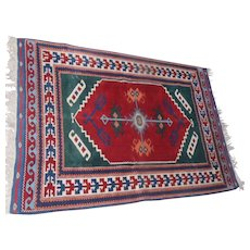 "Lot #3A - Kusadasi Yoruk Wool on Wool Rug - 74"" x 50"""