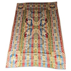 """Lot #11A - Morocco  - Italy Embroidered Silk Tapestry Rug/Wall Hanging - 73"""" x 49 1/2"""""""