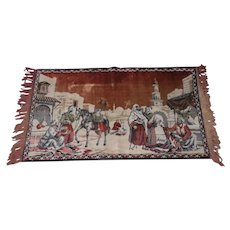 """Lot #14A Middle Eastern Mid-Century Tapestry - 40"""" x 23 1/2"""""""