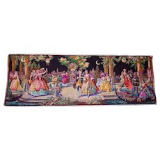"Lot #17A - Mid-Century Made in Belgium Renaissance Tapestry - 56"" x 20"""