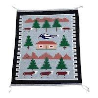 Lot #21A - Navajo Pictorial Rug