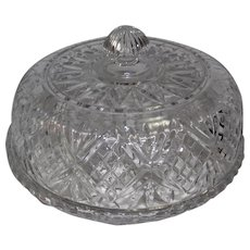 """Beautiful Pressed Crystal Patterned Cake Platter & Lid - 7"""" Tall"""
