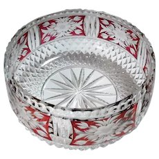 "Stunning Cut & Pressed Floral Design Bowl - 7 1/2"" Diameter"