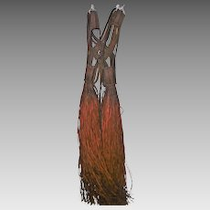 4e0a145e6702 Old Rare Tribal African Ceremonial Shoulder Dress - Leather 52