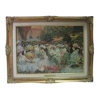 """""""Le Diner a l'Hotel Ritz"""" Paris 1904 Print on Genuine Canvas"""