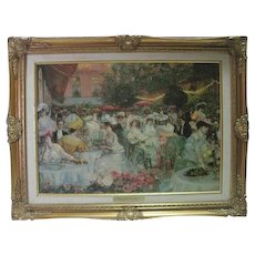 """Le Diner a l'Hotel Ritz"" Paris 1904 Print on Genuine Canvas"