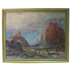 """""""Mountain Valley"""" Print by F. Grayson Sayre"""