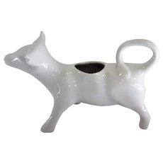 """Made in France for Horn - Cow Porcelain Creamer - 6 3/4"""" Long"""