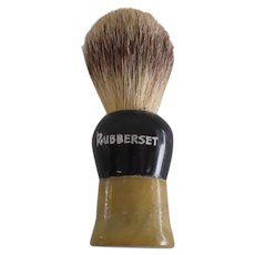 """Collector - Rubberset Shaving Brush with Pure Badger - 3 3/4"""" Long"""