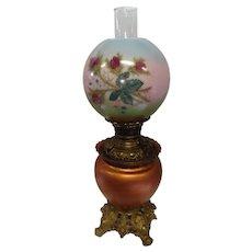 "Antique Globe Table Lamp - ""The Meteor Lamp"" - Pat. 1892"