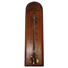 "Colburn's Philadelphia Mustard Antique Thermometer - 12"" Long"
