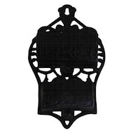 "Wilton Match Holder - Cast Iron - 6 1/4"" x 3 3/4"""
