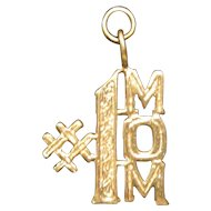 14KT Yellow Gold #1 Mom Pendant - 1.4 Grams