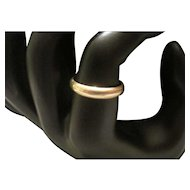 14KT Yellow Gold Wedding Band - Size 6 1/2