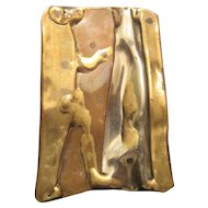 "Abstract Metal - Brass/Copper Pendant - 2"" x 1 3/8"""