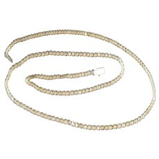 "14KT Braided LE Push Clasp Chain - 18"" Long"
