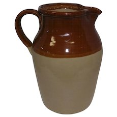 "Pearson's of Chesterfield - Crock Pitcher 1 Gallon - Made in England - 11"" Tall"