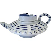 "Oriental Porcelain YingYang Motif Lidded Tea Pot - 5 1/2"" Long"