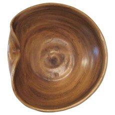 """Van Briggle Col Spgs, Colo Original Brown Art Bowl - 7 1/4"""" Diameter"""