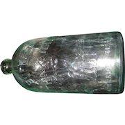 "Antique Buffalo Lithia Mineral Water Light Teal Bottle - 10"" Tall"