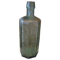 "Dr. Wistars Balsam 8-Sided Wild Cherry Medicine Bottle - 6 3/4"" Tall"