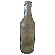 """Antique 1888 Prescott Bottling Works Aqua Bottle - 8"""" Tall"""