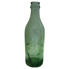 """Poudre Valley Bottling Works - Aqua - Fort Collins, Colo Bottle - 7 3/4"""" Tall"""