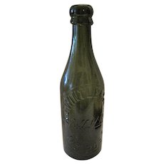 "AJ Wintle & Sons - Bill Mills Nr Ross Dark Olive Bottle - 8 1/2"" Tall"