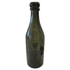 """AJ Wintle & Sons - Bill Mills Nr Ross Dark Olive Bottle - 8 1/2"""" Tall"""