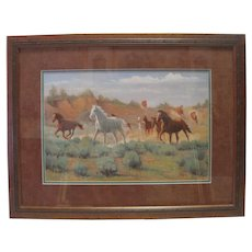 "Bill Tipton ""Running Free"" Signed Print - 142185 S/N w/ COA 1991"