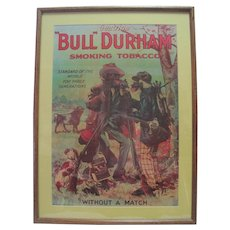 "Prof. Framed Genuine ""Bull Durham"" Smoking Tobacco Poster"