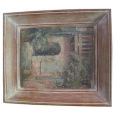 Framed Oil on Canvas Kravery European City Scape Scene