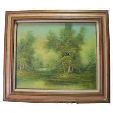 Hanrey - Oil Painting on Canvas - Landscape and Lake
