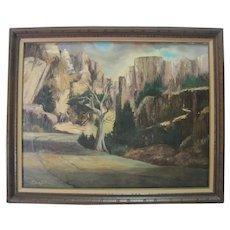 Claire Sullivan - Oil on Canvas - Feat Monument Landscape