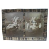 "Pair of 1897 Prints By M.B. Parkinson - ""Cupid Asleep"" & ""Cupid Awake"""