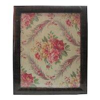 Vintage Framed Linen Napkin w/Wooden Frame