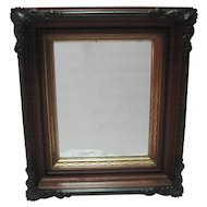 Metal Ornate Oak Framed Shadowbox Mirror