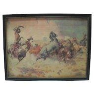 Older - W.R. Leigh - Horse Stampede Print
